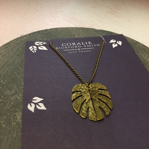 Just Trade Tropical Leaf Pendant