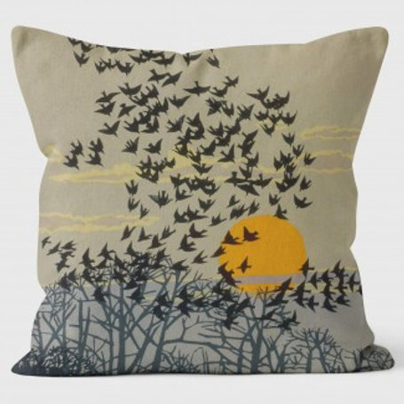 Robert Gillmore Cushion Cover | Starlings