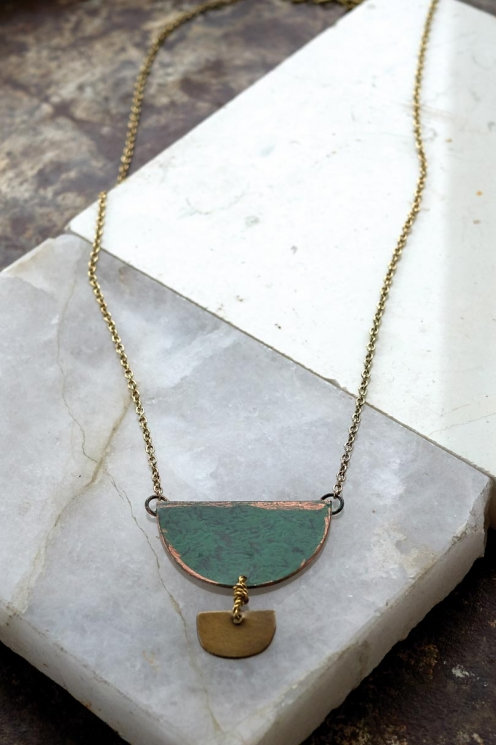 Nomads Oshun Semi Circle Necklace