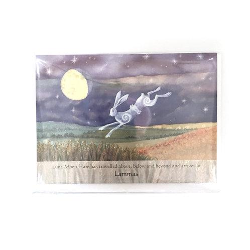 Painting Dreams Luna Moon Hare Greeting Card