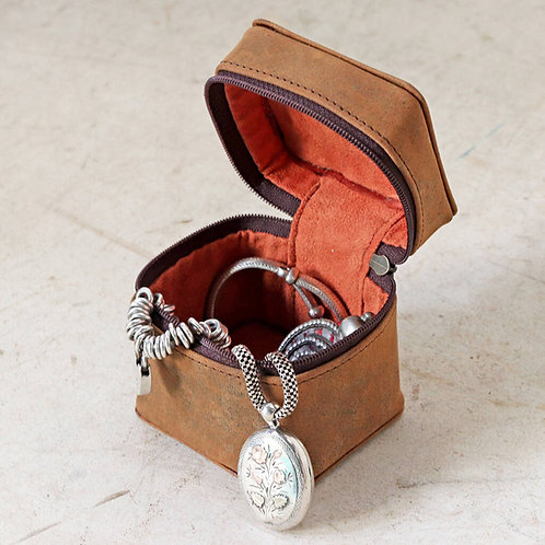 Scaramanga Leather Jewellery Box