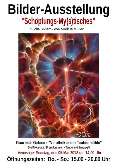 Plakat Bilderausstellung Taubenmühle