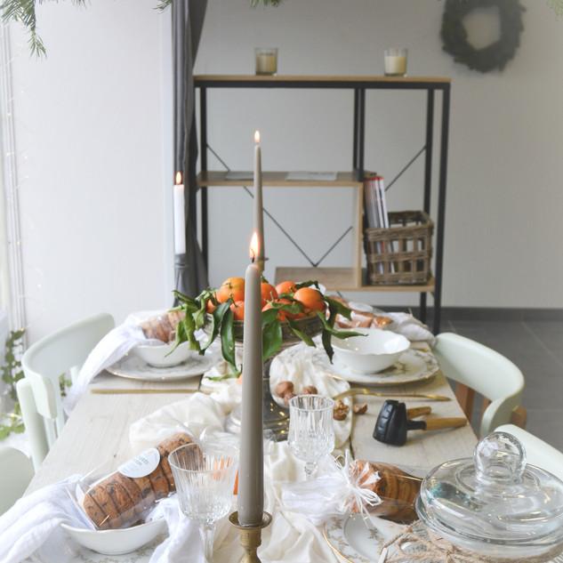 Vitrine table de Noël Delichouz cake