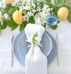 limone e fiori bianchi