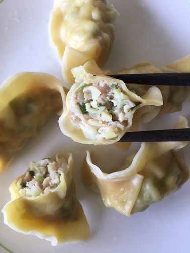 Boiled Organic Chicken Basil Dumplings