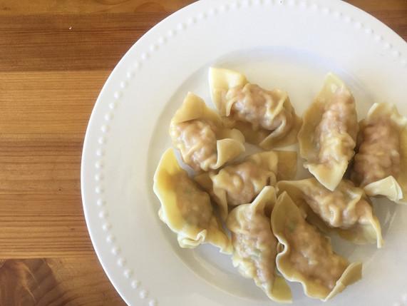 Boiled Shrimp & Pork Dumplings