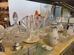 vetri, cristalli e vasi mercatino dell'u