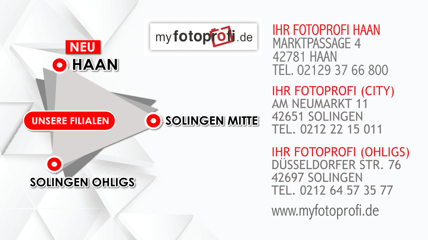 Bewerbungsbilder in Haan und Solingen