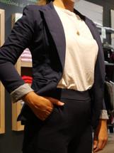 veste blazer femme bleu marine nicolas o