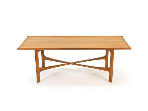 Folke Ohlsson Bodafors Teak X Leg Cross Brace Stringer Coffee Table 1962