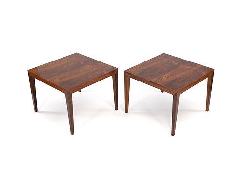 Severin Hansen Haslev Rosewood Side Tables