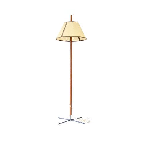 Hans-Agne Jakobsson for Markaryd teak and steel floor lamp model NR G 35