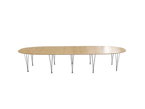 Rare Superellipse Conference, Dining Table. Bruno Mathsson, Hein. SOLD