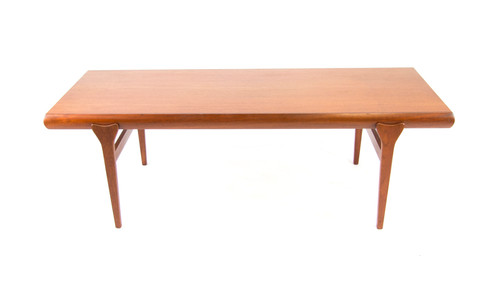 teak coffee table. Johannes Andersen Teak Coffee Table With Pull-out Shelf And Drawer