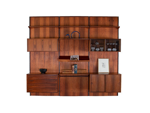 Kai Kristiansen Rosewood Danish Wall Unit. SOLD