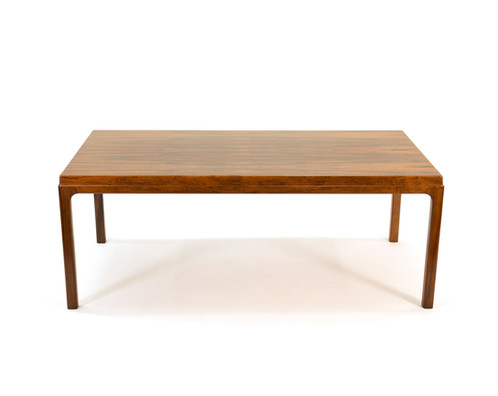 Danish Coffee Table Brazilian Rosewood Pull Out Shelf