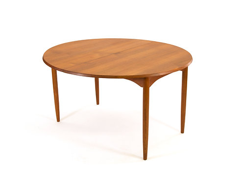 Arne Vodder Sibast Solid Teak Dining Table 2 Leaves