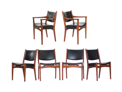 Hans J Wegner for Johannes Hansen Dining Chairs. SOLD