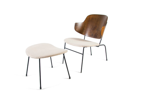Ib Kofod Larsen Penguin Chair And Ottoman Lounge Kofoed Larsen