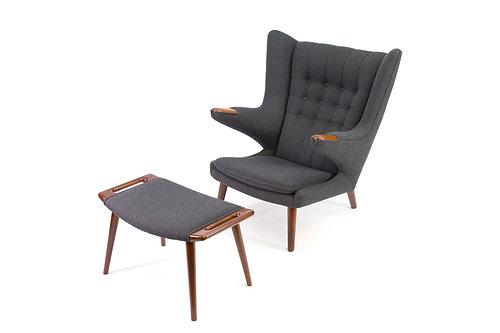 Hans Wegner Papa Bear Chair Ottoman AP19