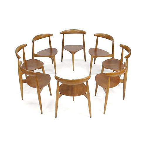 Hans Wegner Fritz Hansen Heart Chairs
