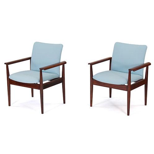 Finn Juhl Rosewood Diplomat Chairs