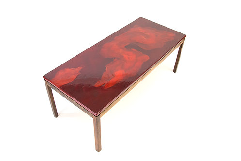 Algot P Törneman enameled rosewood coffee table for NK Sweden