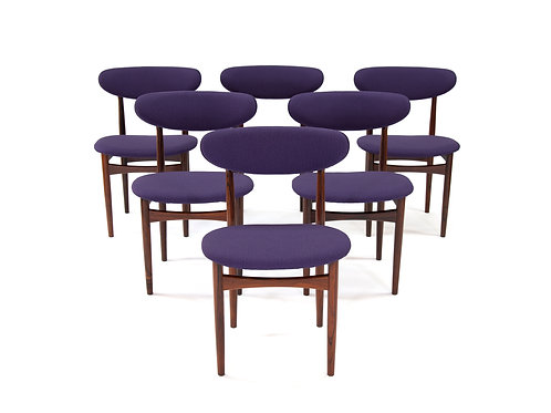 Danish Modern Rosewood Dining Chairs Purple