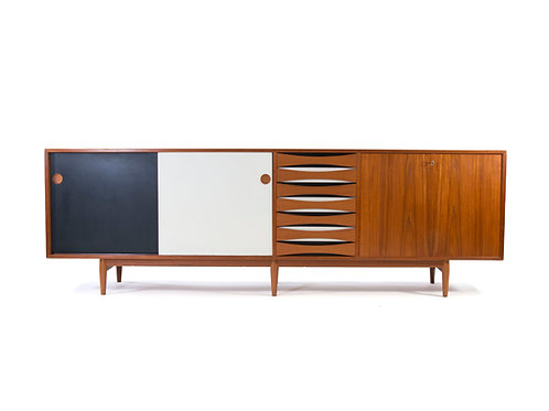 Arne Vodder 29A Teak Credenza Sibast Furniture Mobler White Black 6 Legs