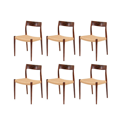 Niels Moller Model 77 Rosewood Dining Chairs. SOLD