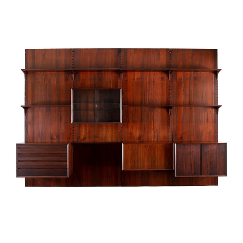 Poul Cadovius Cado Rosewood Royal System Wall Unit