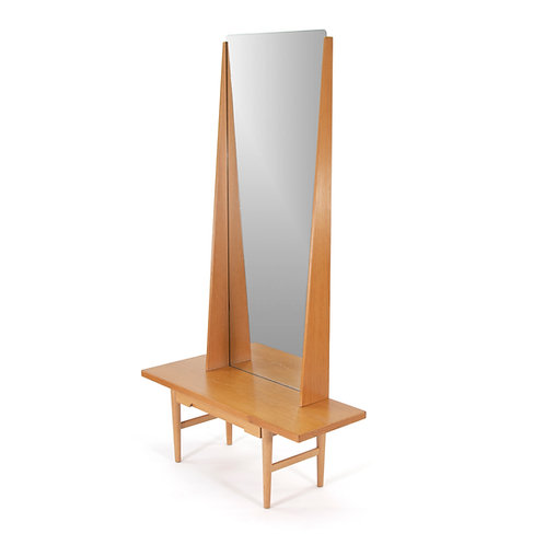Emmaboda Mid Century Swedish Oak Mirror