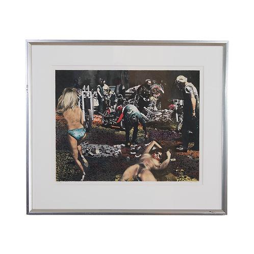 John-Erik Franzen Hells Angels of California Lithograph 1990