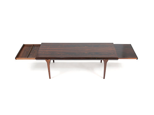 Long Rosewood Coffee Table by Johannes Andersen. Free Shipping