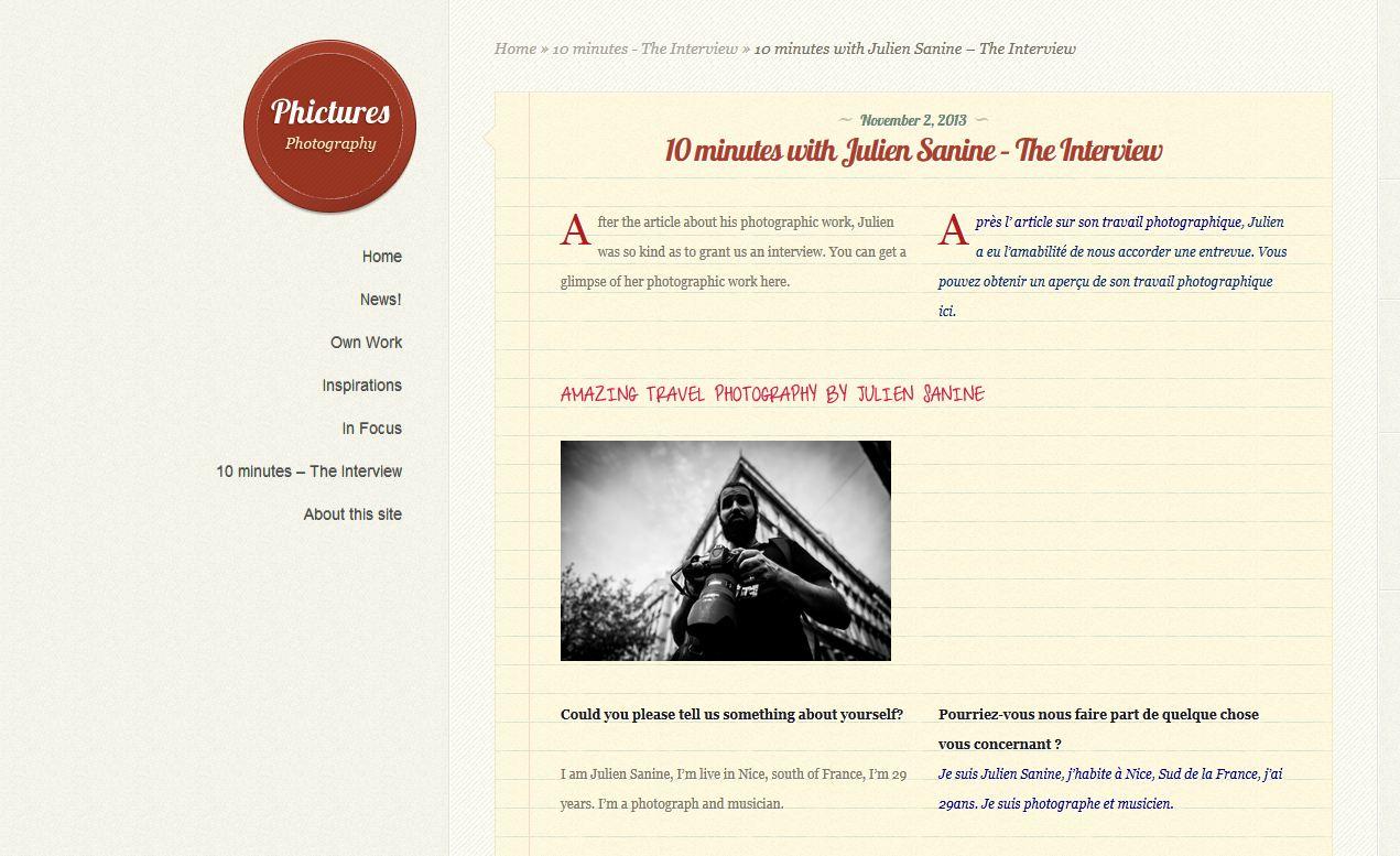 Interview par Phictures