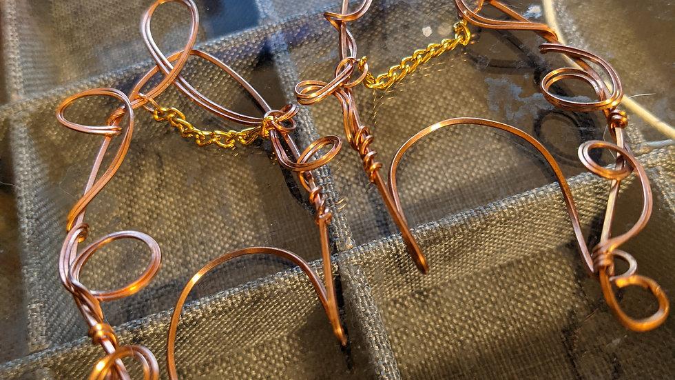 Copper Elf Ear Cuffs with Brass Accent(2)