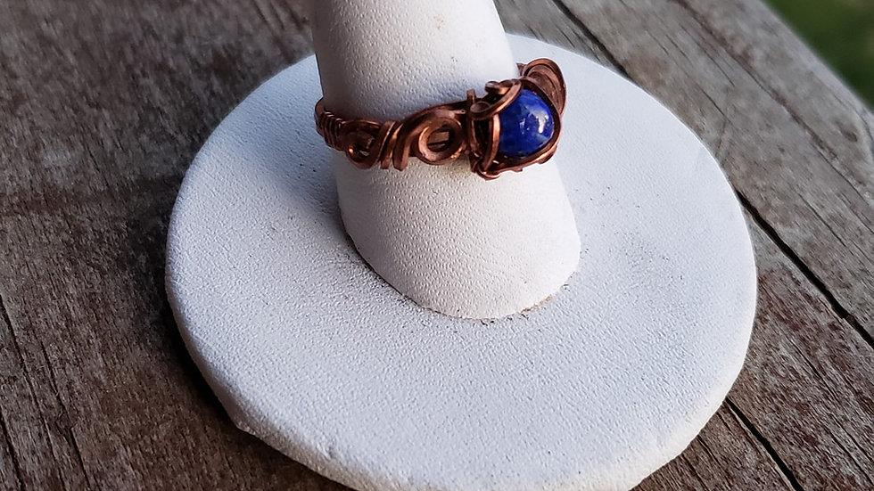 Lapis Lazuli in Copper Ring