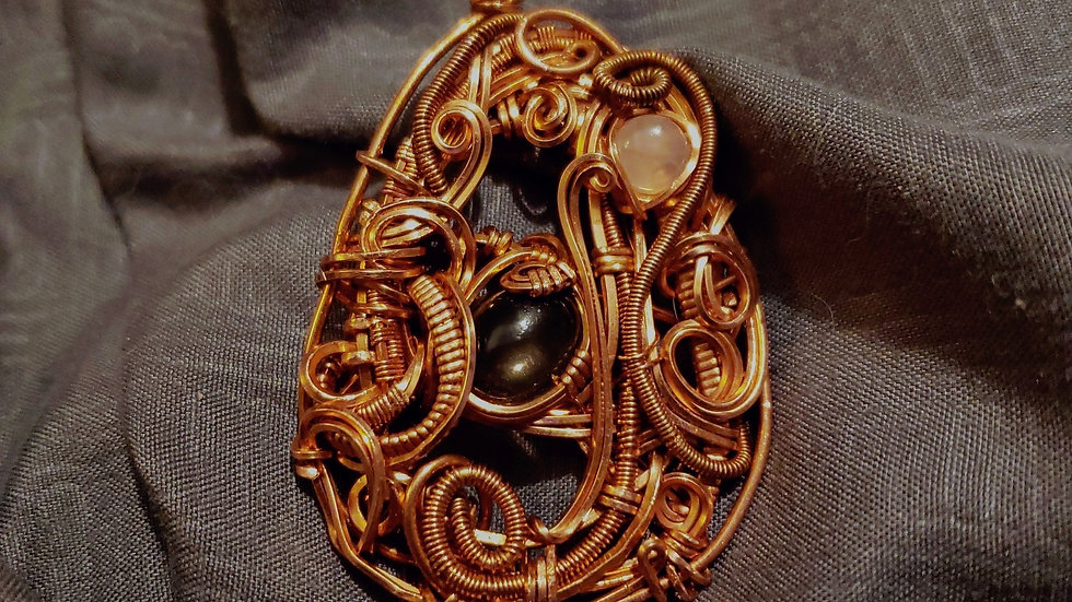 Wretched Egg - Quartz and Copper Pendant