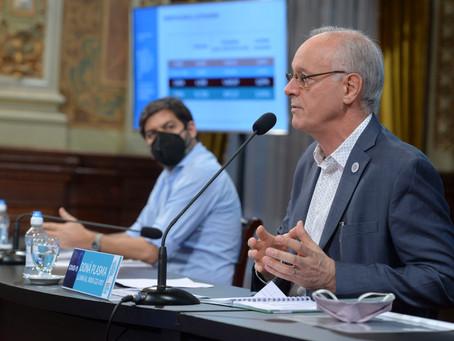 Gollan y Bianco brindan conferencia de prensa sobre la situación epidemiológica en la provincia