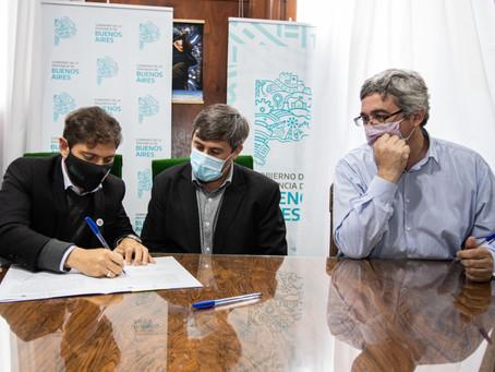 Kicillof anunció obras para los municipios de Pehuajó, Alberti y Carlos Tejedor