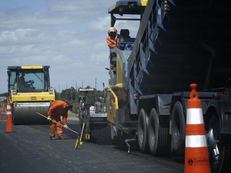 Avanza la transformación de la autopista de la ruta nacional 7 en el norte bonaerense