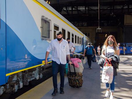 El tren llegó a Mar del Plata, luego de ocho meses de inactividad por la pandemia del coronavirus