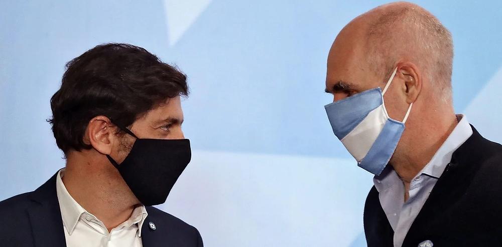 Kicillof y Rodriguez Larreta (Foto: AFP)