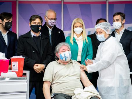 Kicillof celebró el hito de 3 millones de bonaerenses vacunados contra el coronavirus