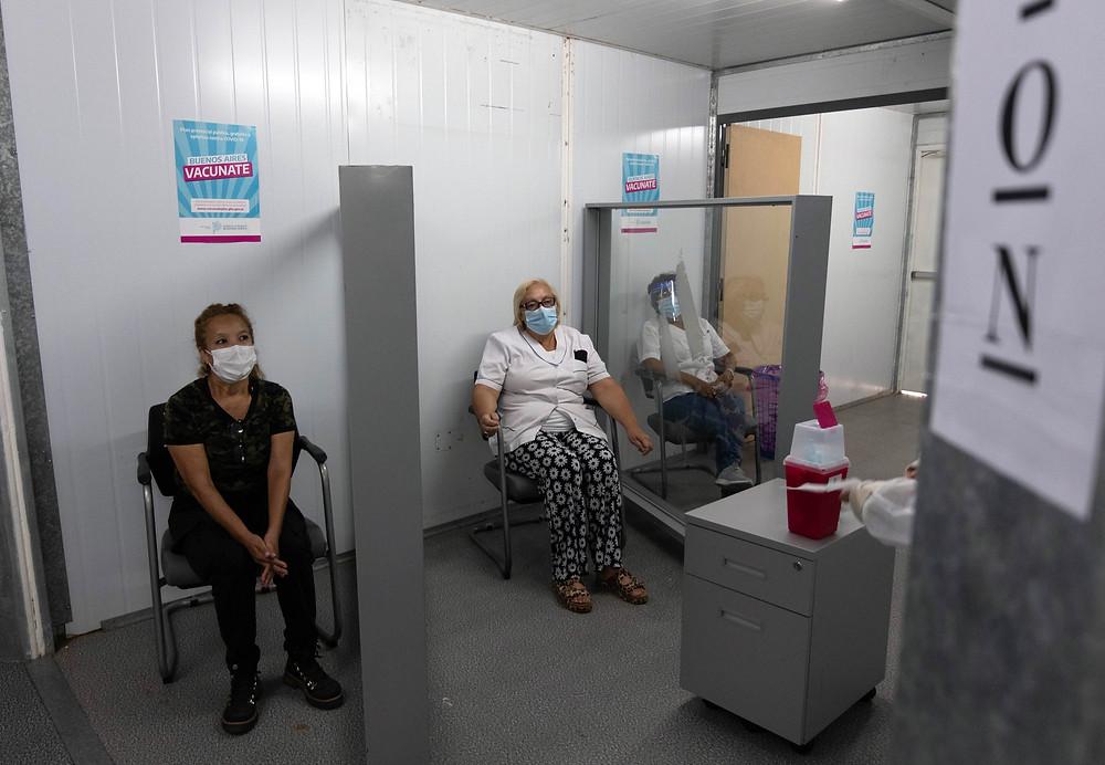 Operativo de vacunación en la Provincia de Buenos Aires.