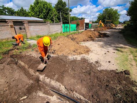 San Vicente | Avanzan las obras de ampliación de la red de agua potable en Domselaar