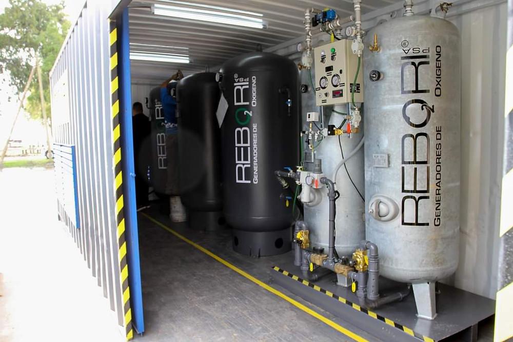 Generador de Oxígeno, el Centro de Aislamiento que la Municipalidad montó en el nuevo Polideportivo de Punta Lara.