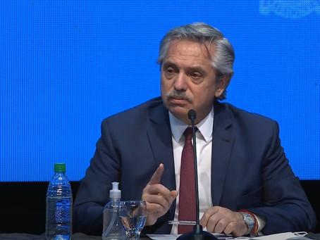 Alberto Fernández anunció la extensión del aislamiento y distanciamiento social en el país