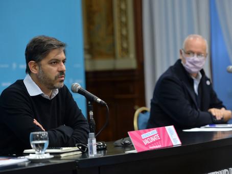 En medio de incertidumbre por nuevas restricciones, Bianco y Gollan brindan conferencia de prensa