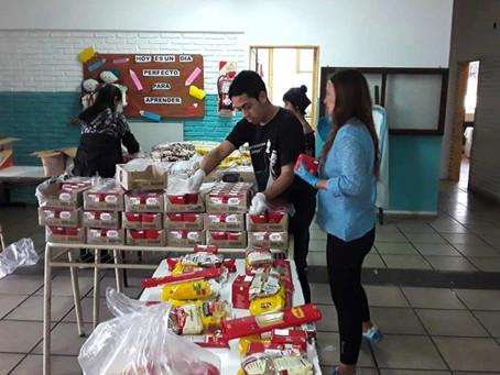 Entregan bolsones alimentarios de emergencia para escuelas bonaerenses